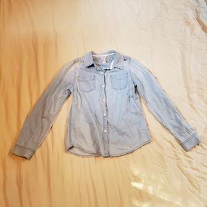 Girl's Button up Denim Shirt